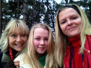 Sophie, mum and daughter
